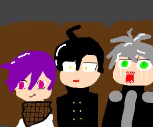 Shuichi, Kiibo and Kokichi