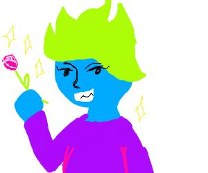 green hair romance cartoon character