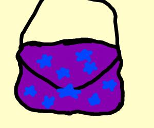 Blue stars on purple bg