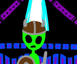 an alien but he's a viking
