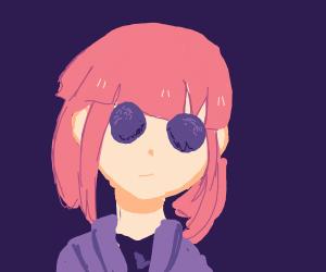 Bug-eyed girl