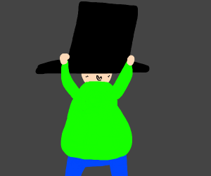 Man with large top hat