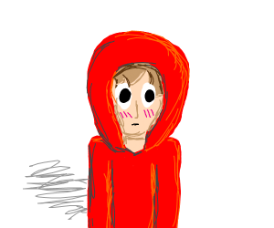 embarrassed hoodie person