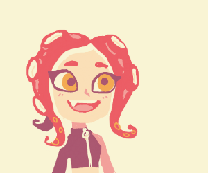 Happy Octoling girl