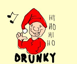 The eighth dwarf, drunky.