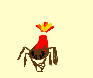 Crab x volcano