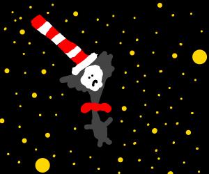 the cat in a hat, in space