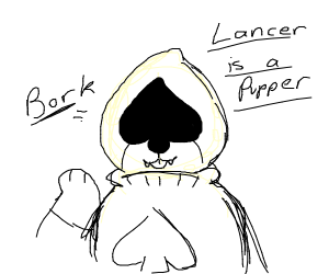 Lancer is a Pupper