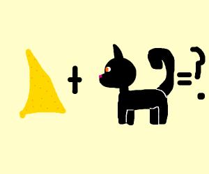 Dorito + black cat
