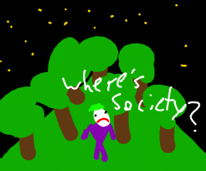 The Joker gets lost in a forest