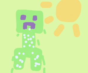 Creeper is melting