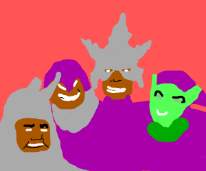 Me and the (purple) boys