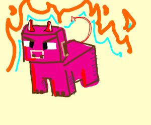 Mincraft pig but satan