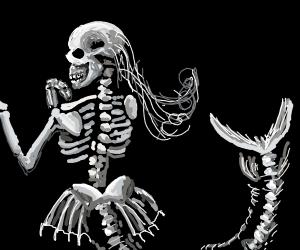 Mermaid's skeleton