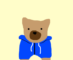 Dog In A Hoodie (but drawn good)