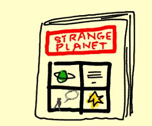 Strange planet comic