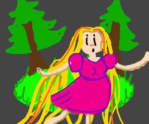 Rapunzel in the Forest
