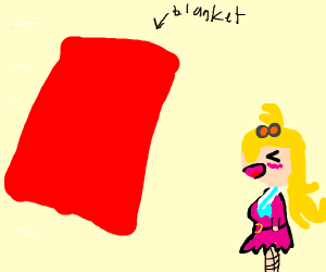 Red blanket attacks a girl