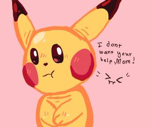 Angsty teenaged Pikachu