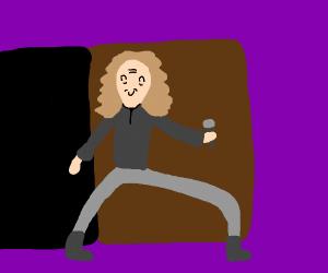 Dio(?) walking through door