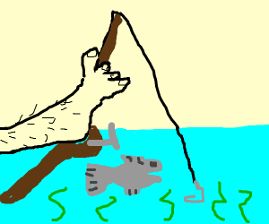 Fishing with a Foot