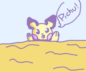 Pokemon Mouse trapped in quicksand