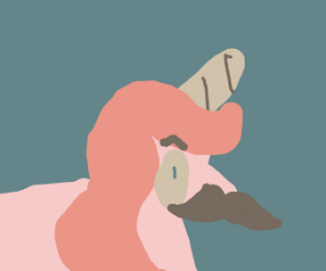 Unicorn with a mustache