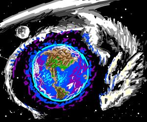 space dragon orbiting Earth