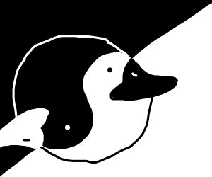 Ying and yang Duck