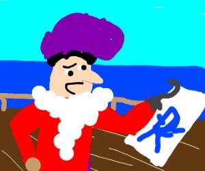 Captain Hook starting his art career