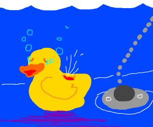 broken rubber duck