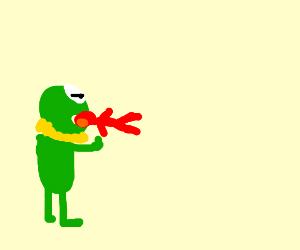 monster kermit eats elmo :0