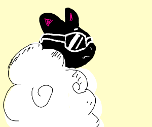 Cool sheep wearing sunglasses