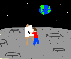 Panting on the moon