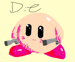 Kirby with dual guns