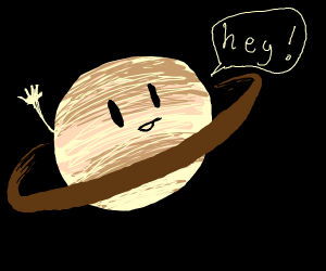 Saturn says hello