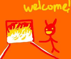 the devil welcomes you to hell