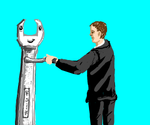 Wrench man meet human