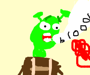 shrek cries blood