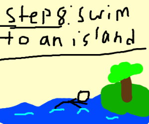 Step 7 : land into ocean