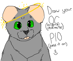 Draw your oc pass it on