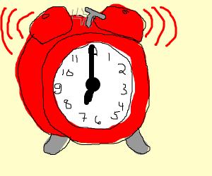 alarm going off