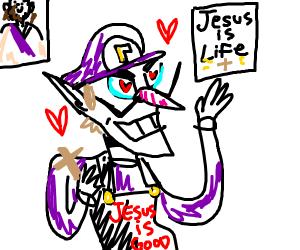 Waluigi hearts jesus