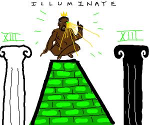 Kanye West is King of the illuminati