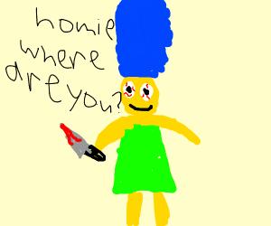 Crazy Marge Simpson