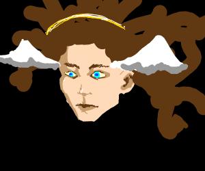 Flying angel head