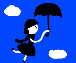 mary poppins but with a cape