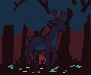 Deer in a Shrouded Forest at Dawn