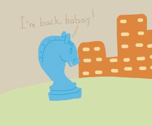 Blue Knight returns to orange city