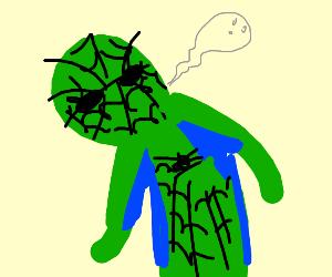 spiderman verde se está muriendo